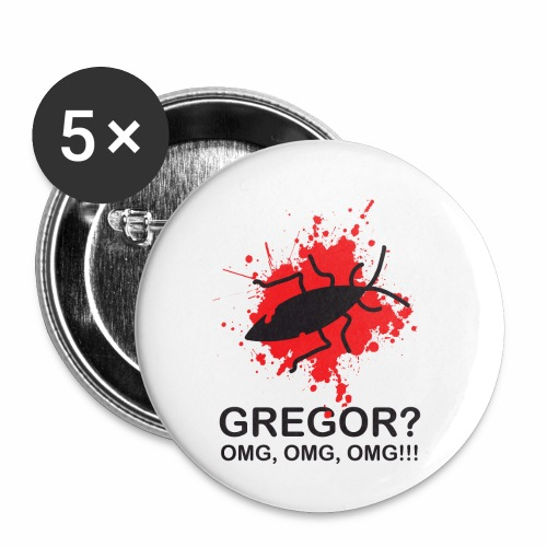 OMG, Gregor Samsa is dead! - Buttons small 1''/25 mm (5-pack)