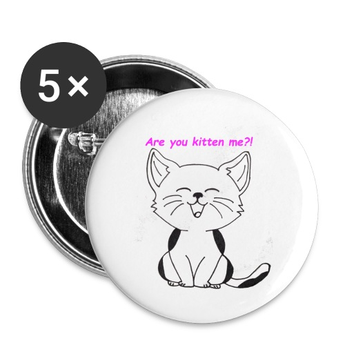 are you kitten me - Buttons klein 25 mm (5-pack)
