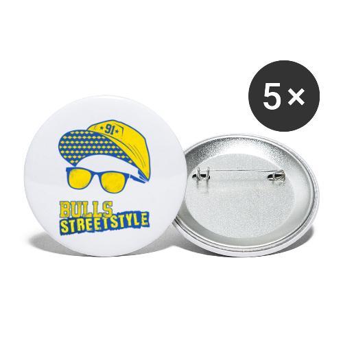 Bulls Streetstyle Yellow - Buttons klein 25 mm (5er Pack)