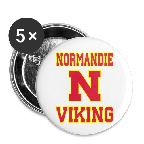 Normandie Viking - Lot de 5 petits badges (25 mm)