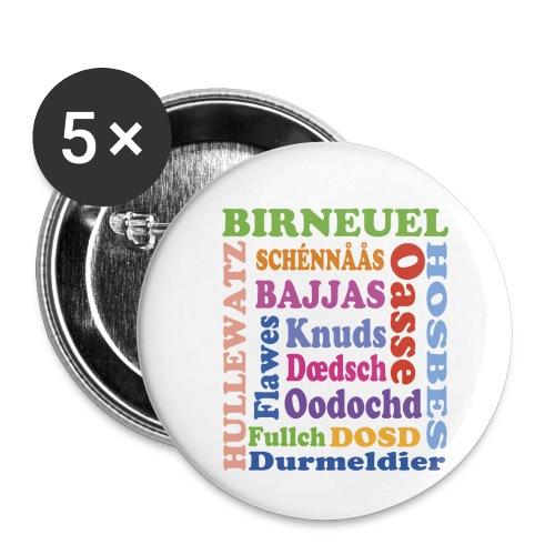 schimpf - Buttons klein 25 mm (5er Pack)