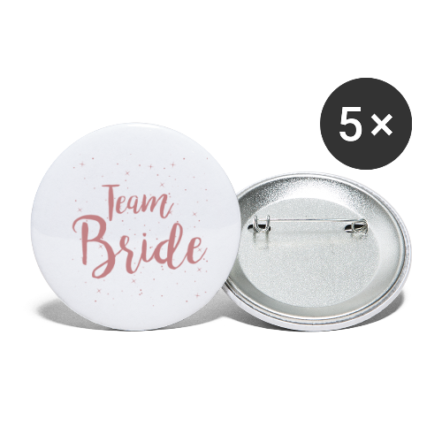 Team Bride - Buttons klein 25 mm (5er Pack)