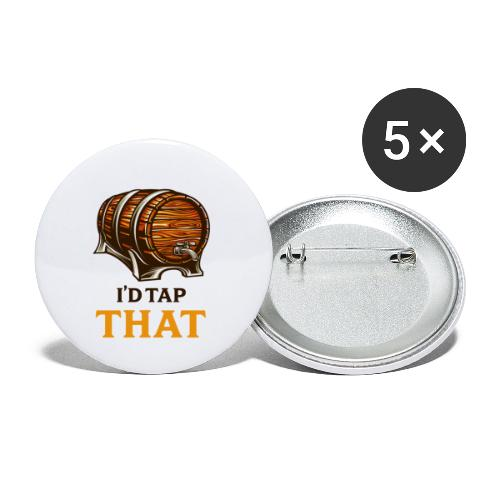 Beer / beer keg fan - gift idea - Buttons small 1''/25 mm (5-pack)