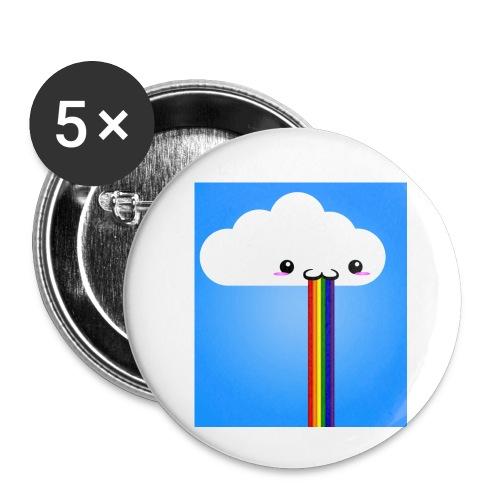 rainbow - Buttons klein 25 mm (5er Pack)