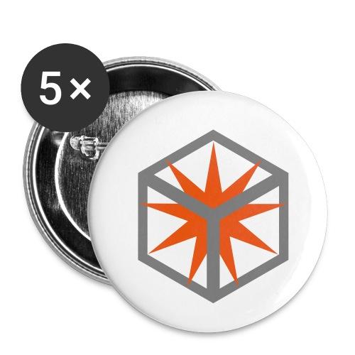 Pyrodice Cap - Buttons klein 25 mm (5er Pack)