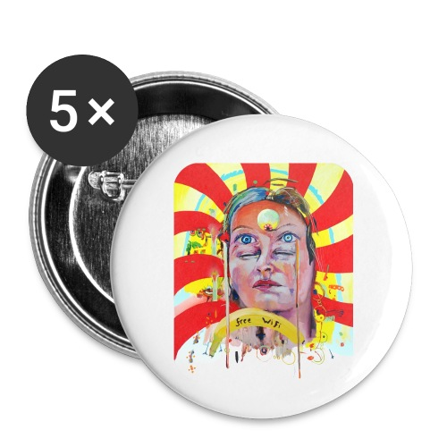 in the city of the future - Buttons klein 25 mm (5-pack)