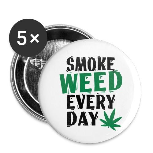 Smoke Weed Everyday Linovert - Lot de 5 petits badges (25 mm)
