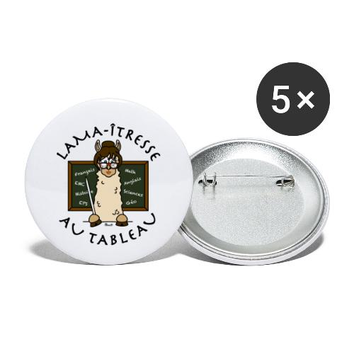 Lama-îtresse, tableau, maîtresse, cadeau, vacances - Lot de 5 petits badges (25 mm)