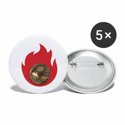 petanque fire - Lot de 5 petits badges (25 mm)