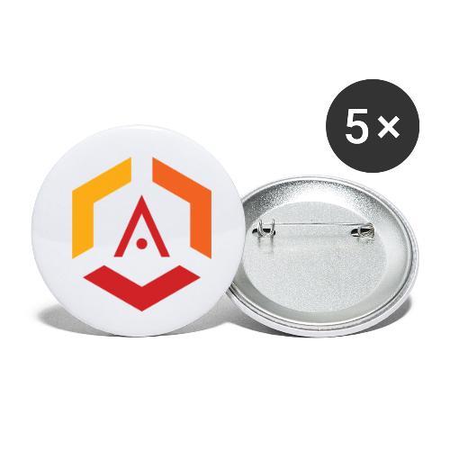 Maglietta Mario Anti-Pro Semplice - Confezione da 5 spille piccole (25 mm)