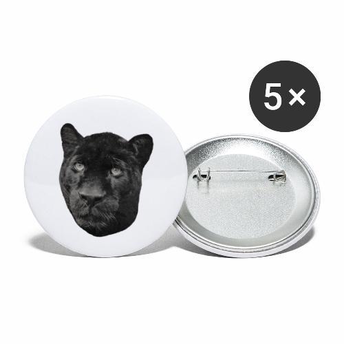 Schwarzer Panther - Buttons klein 25 mm (5er Pack)