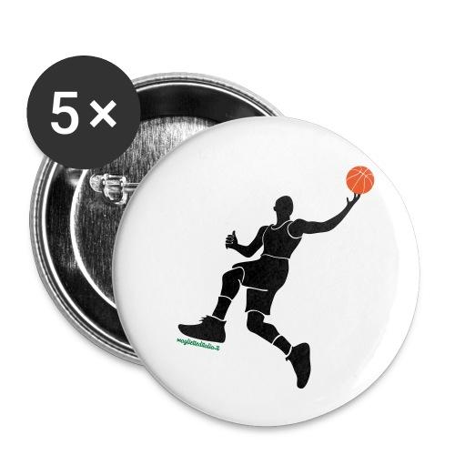 slamdunk_ball - Confezione da 5 spille piccole (25 mm)