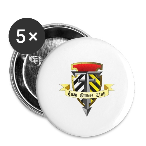 TOC Gothic Clear Background 1 - Buttons small 1''/25 mm (5-pack)