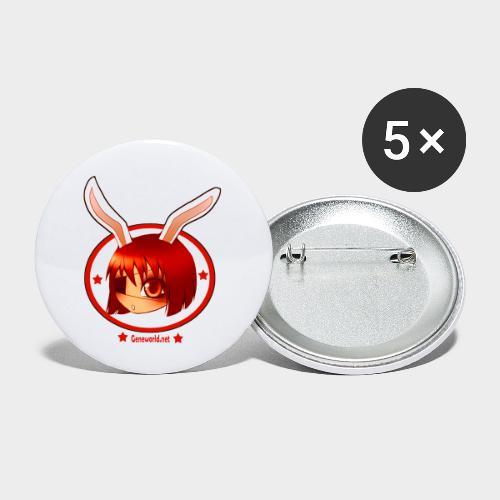 Geneworld - Bunny girl pirate - Lot de 5 petits badges (25 mm)