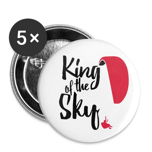 King of the Sky - Buttons klein 25 mm (5er Pack)