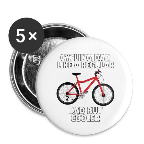 Fahrrad Radfahrer Radfahren Fahrradfahren Geschenk - Buttons klein 25 mm (5er Pack)
