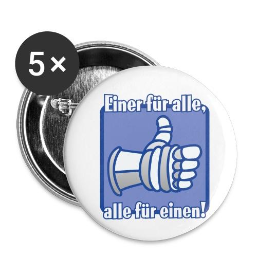 Kinder Langarmshirt - Einer für alle, alle für e - Buttons klein 25 mm (5er Pack)