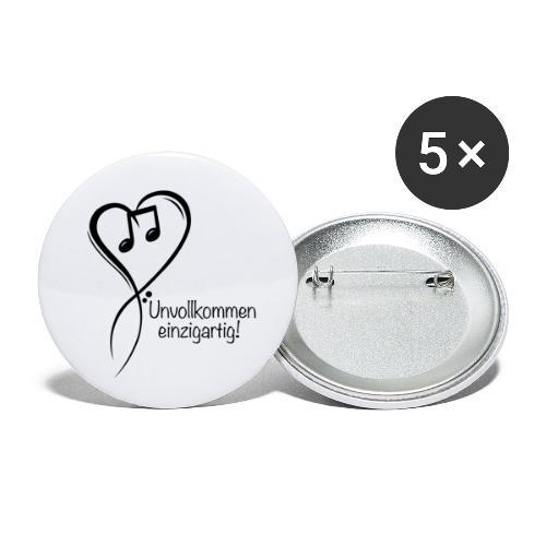 Unvollkommen einzigartig black - Buttons klein 25 mm (5er Pack)