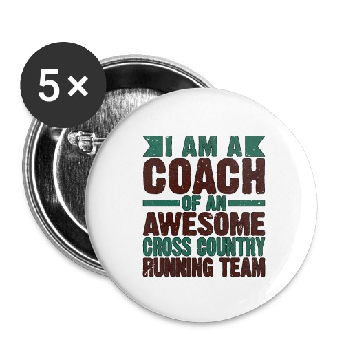 Running Coach Gift Coach of Awesome Cross Country - Buttons small 1''/25 mm (5-pack)