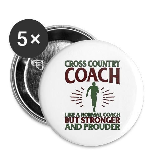 Cross Country Coach Gift Cross Country Coach Like - Buttons small 1''/25 mm (5-pack)