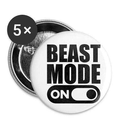 BEAST MODE ON - Buttons small 1''/25 mm (5-pack)
