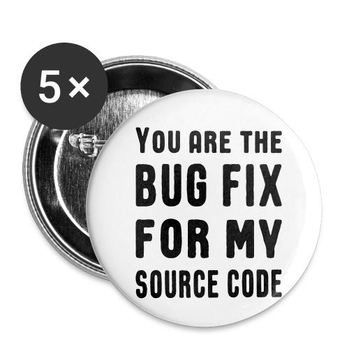 Programmierer Beziehung Liebe Source Code Spruch - Buttons klein 25 mm (5er Pack)