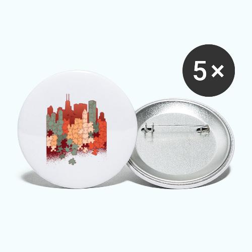 Puzzle fan - Buttons small 1''/25 mm (5-pack)