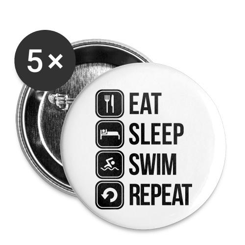 zwemmen - Buttons klein 25 mm (5-pack)