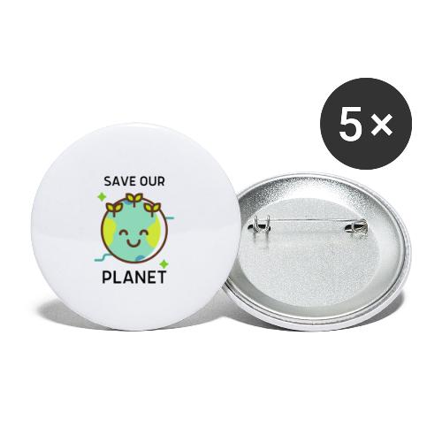 Save our planet LIGHT - Buttons small 1''/25 mm (5-pack)