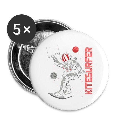 Kitesurfer - Lost in space - Buttons klein 25 mm (5er Pack)