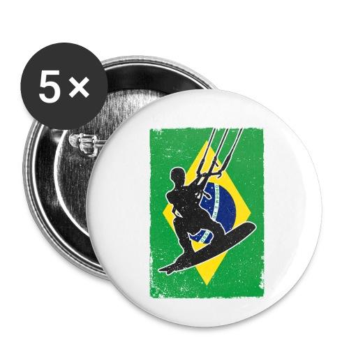 Kitesurfen - Brasilien - Buttons klein 25 mm (5er Pack)