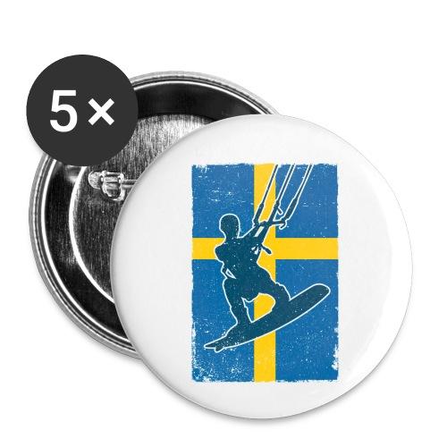 Kitesurfer Sweden - Buttons klein 25 mm (5er Pack)