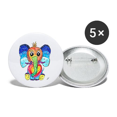 Happy Elephant - Buttons klein 25 mm (5er Pack)