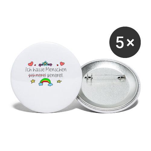 Menschen hassen generell | humor Sarkasmus Lustig - Buttons klein 25 mm (5er Pack)