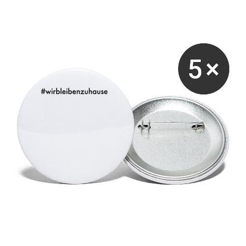 #wirbleibenzuhause - Buttons klein 25 mm (5er Pack)