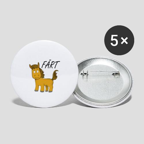 Das Färt - Buttons klein 25 mm (5er Pack)