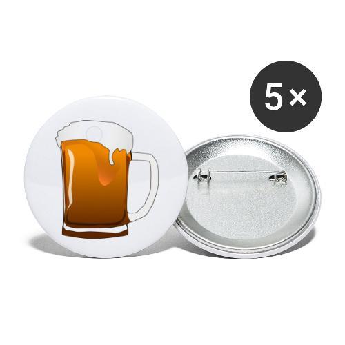 Cartoon Bier Geschenkidee Biermaß - Buttons klein 25 mm (5er Pack)
