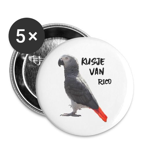 Kusje van Rico - Buttons klein 25 mm (5-pack)