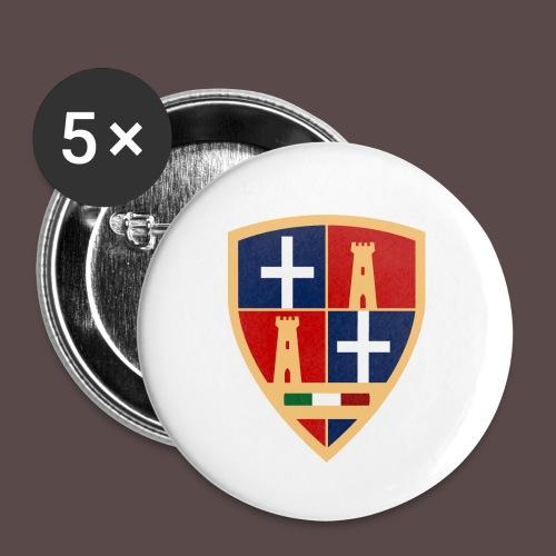 Sardegna - Stemma Sassari - Confezione da 5 spille piccole (25 mm)
