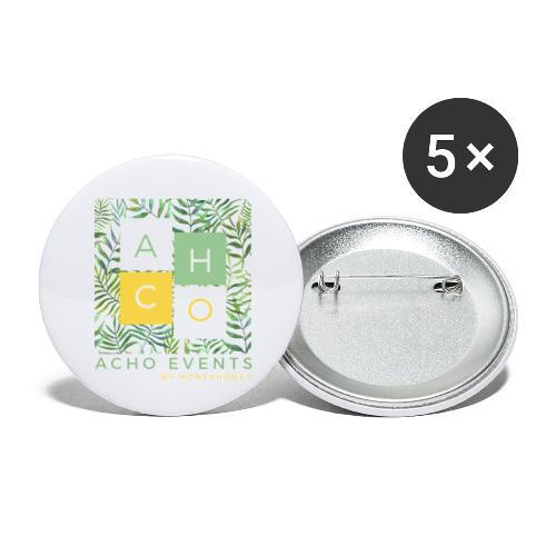ACHOevents - Paquete de 5 chapas pequeñas (25 mm)