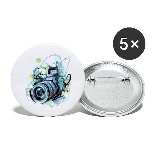 Camera - Buttons small 1''/25 mm (5-pack)