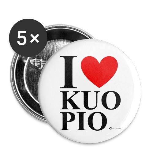 I LOVE KUOPIO ORIGINAL (musta) - Rintamerkit pienet 25 mm (5kpl pakkauksessa)