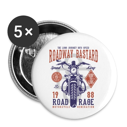 Roadway Bastard - Buttons klein 25 mm (5-pack)