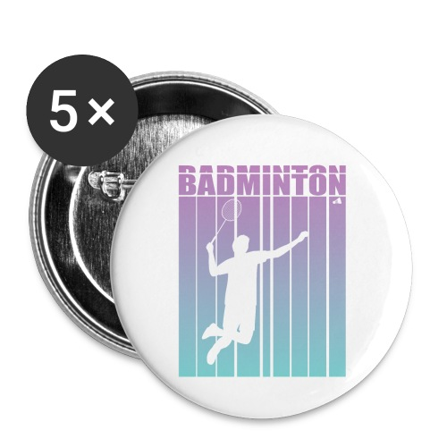 Badminton Jump Smash - Buttons small 1''/25 mm (5-pack)