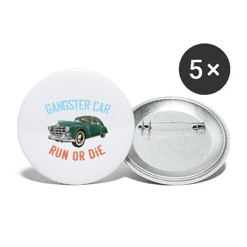 Gangster Car - Run or Die - Buttons small 1''/25 mm (5-pack)
