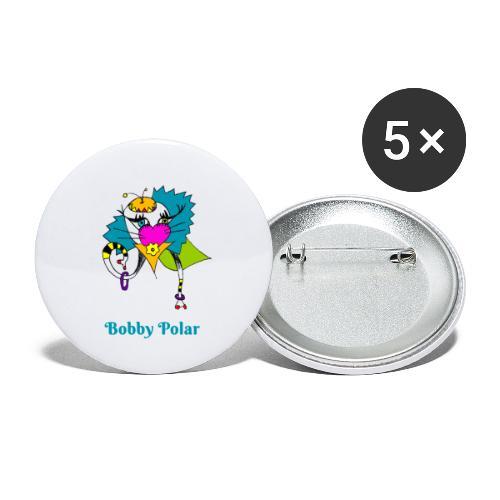 Bobby Polar - Lot de 5 petits badges (25 mm)