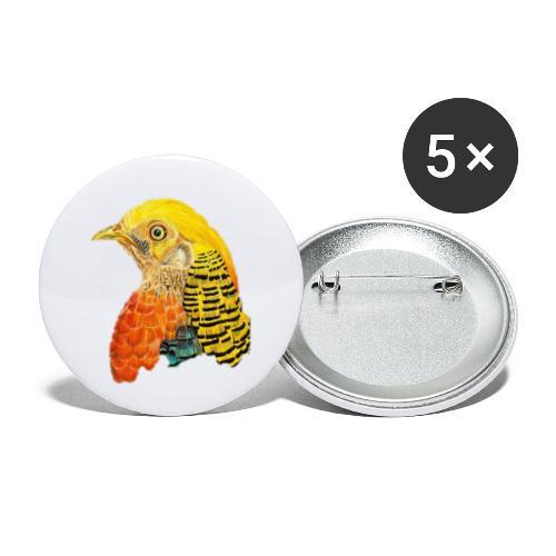 Yellow bird Amazon - Paquete de 5 chapas pequeñas (25 mm)