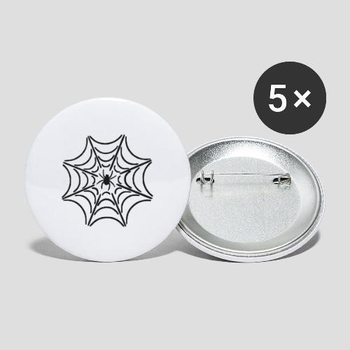 Das Schwarze Spinnennetz - Buttons klein 25 mm (5er Pack)