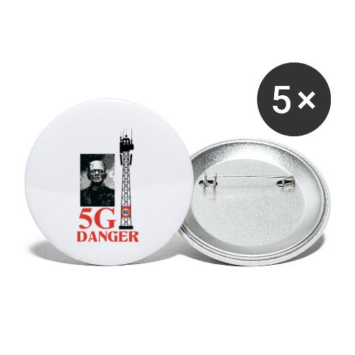 5 G DANGER - Buttons small 1''/25 mm (5-pack)