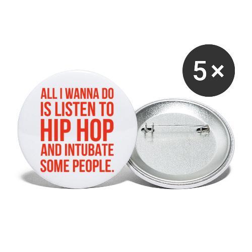 HIPHOP - Buttons klein 25 mm (5er Pack)